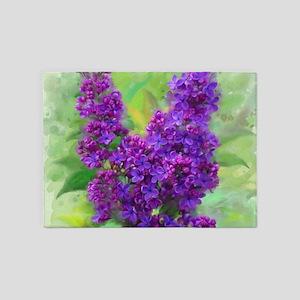 Watercolor Lilac 5'x7'Area Rug