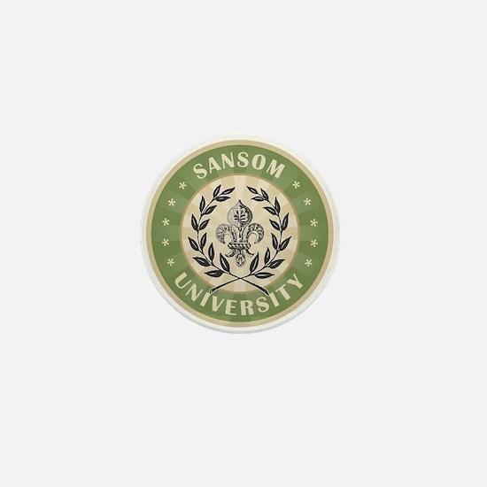 Sansom Last Name University Mini Button