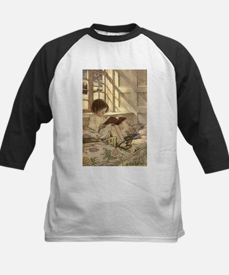 Vintage Books in Winter, Child Reading Tee