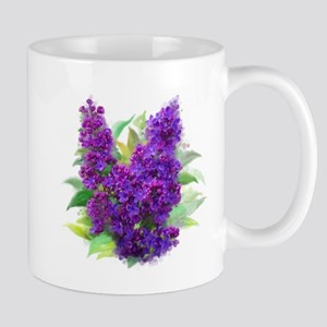 Purple Watercolor Lilac Mugs