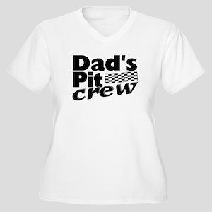Dad's Pit Crew Women's Plus Size V-Neck T-Shirt