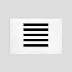 Black and White Stripes 4' x 6' Rug
