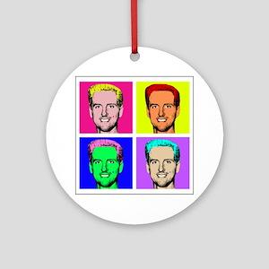 Gavin Newsom Pop Art Ornament (Round)