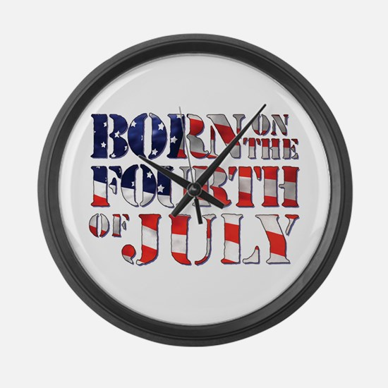 Cute 4th july Large Wall Clock