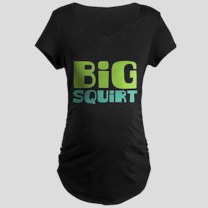 Big Squirt Maternity Dark T-Shirt