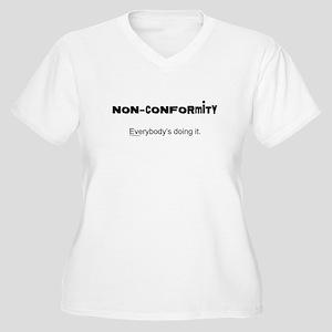Non-Conformity Women's Plus Size V-Neck T-Shirt