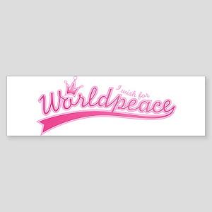 Worldpeace Bumper Sticker