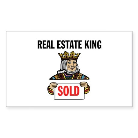 KING OF SOLD Rectangle Sticker
