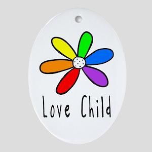 Love Child Oval Ornament