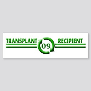 Transplant Recipient 2009 Bumper Sticker