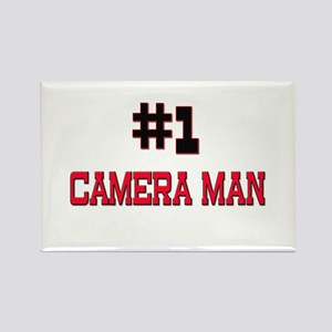 Number 1 CAMERA MAN Rectangle Magnet