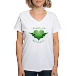 Transplant Recipient 2009 Women's V-Neck T-Shirt