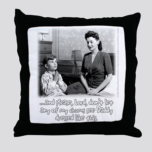 Crossdressing Dad Throw Pillow
