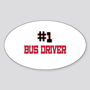 Number 1 BUS DRIVER Oval Sticker