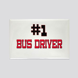 Number 1 BUS DRIVER Rectangle Magnet