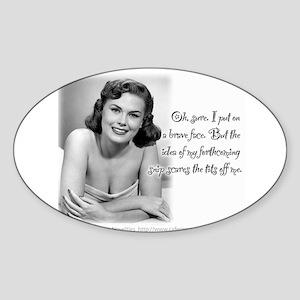 Transgender Snip Oval Sticker