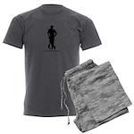 HavePaintGunWillTravel logo Men's Charcoal Pajamas