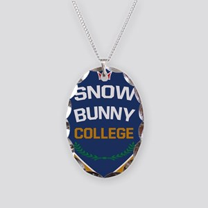 SnowBunny College Necklace Oval Charm