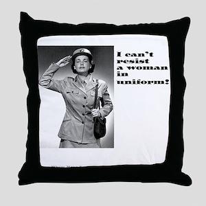 Uniform Lesbian Throw Pillow