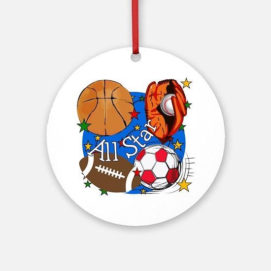 All Star Sports Ornament (Round)