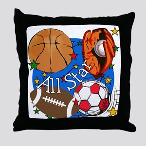 All Star Sports Throw Pillow
