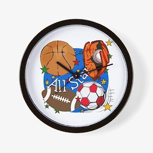 All Star Sports Wall Clock