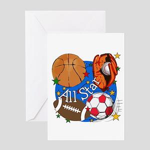 Kids sports greeting cards cafepress all star sports greeting card m4hsunfo