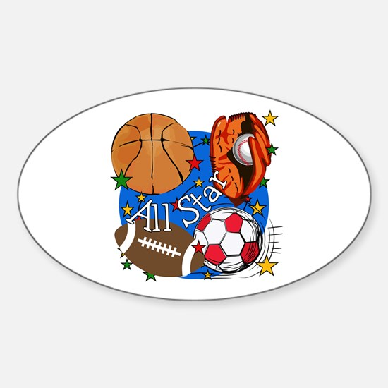 All Star Sports Oval Decal