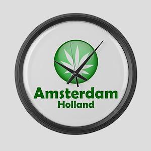 Green Amsterdam Pot Large Wall Clock