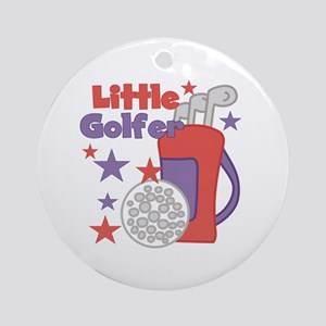 Little Golfer Ornament (Round)