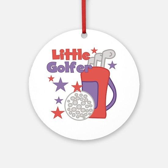 Little Golfer Ornament (Round)