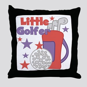 Little Golfer Throw Pillow