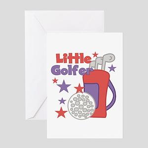 Little Golfer Greeting Card