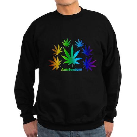Rainbow Amsterdam Pot Sweatshirt (dark)