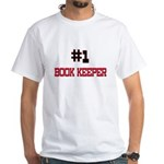 Number 1 BOOK KEEPER White T-Shirt
