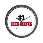 Number 1 BOOK KEEPER Wall Clock