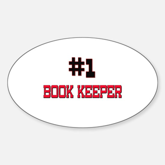 Number 1 BOOK KEEPER Oval Decal