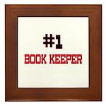 Number 1 BOOK KEEPER Framed Tile