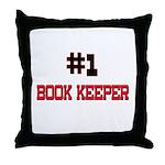 Number 1 BOOK KEEPER Throw Pillow