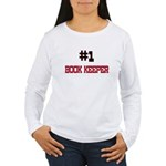 Number 1 BOOK KEEPER Women's Long Sleeve T-Shirt