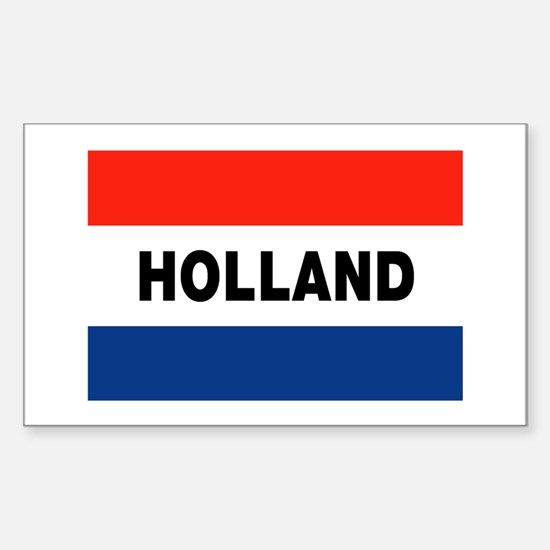 Holland Flag Rectangle Decal