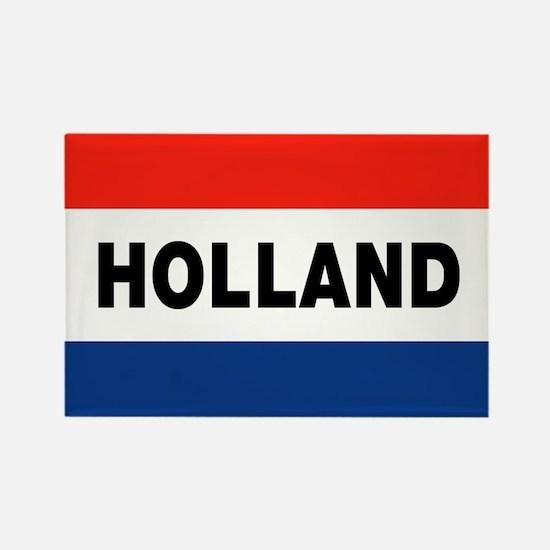 Holland Flag Rectangle Magnet
