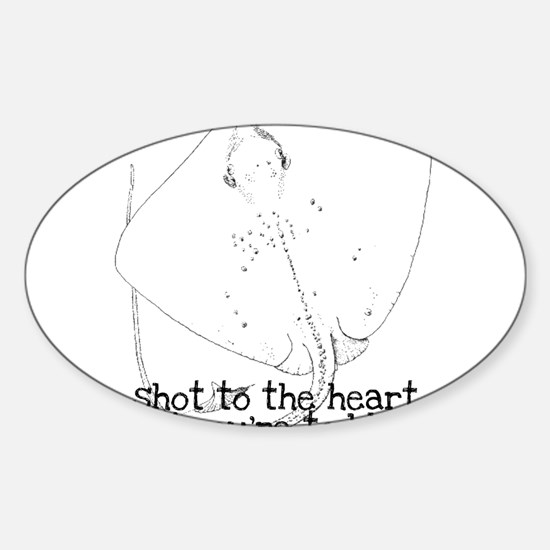 Sting ray Oval Decal