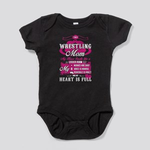 I'm A Wrestling Mom T Shirt Body Suit