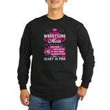 Wrestling mom Long Sleeve Dark T-Shirts