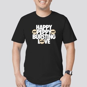 Happy and Peppy Men's Fitted T-Shirt (dark)