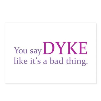 You Say DYKE Like... Postcards (Package of 8)