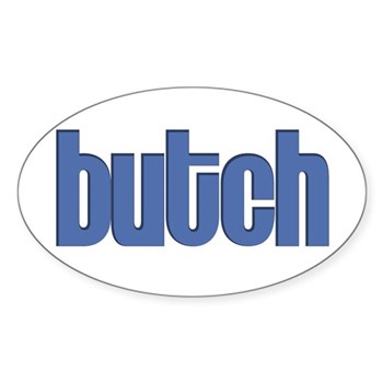 Butch Oval Sticker
