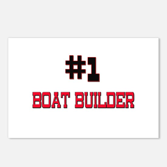 Number 1 BOAT BUILDER Postcards (Package of 8)