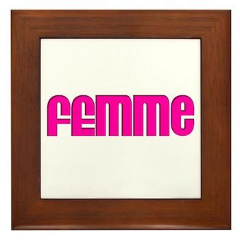 Femme Framed Tile